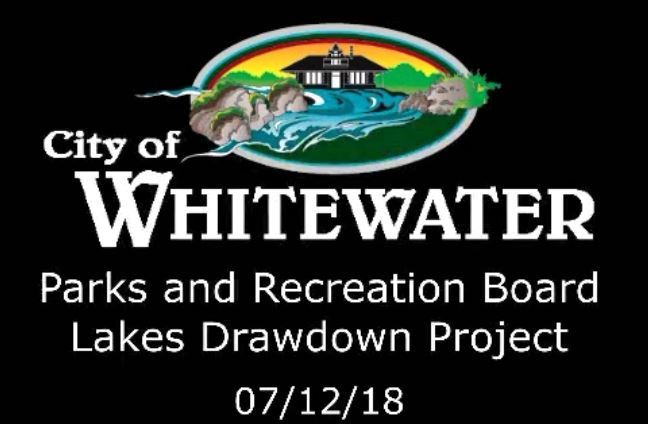 Lake drawdown 7-12-18
