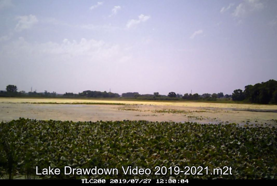 Lake drawdown time lapse July 2019