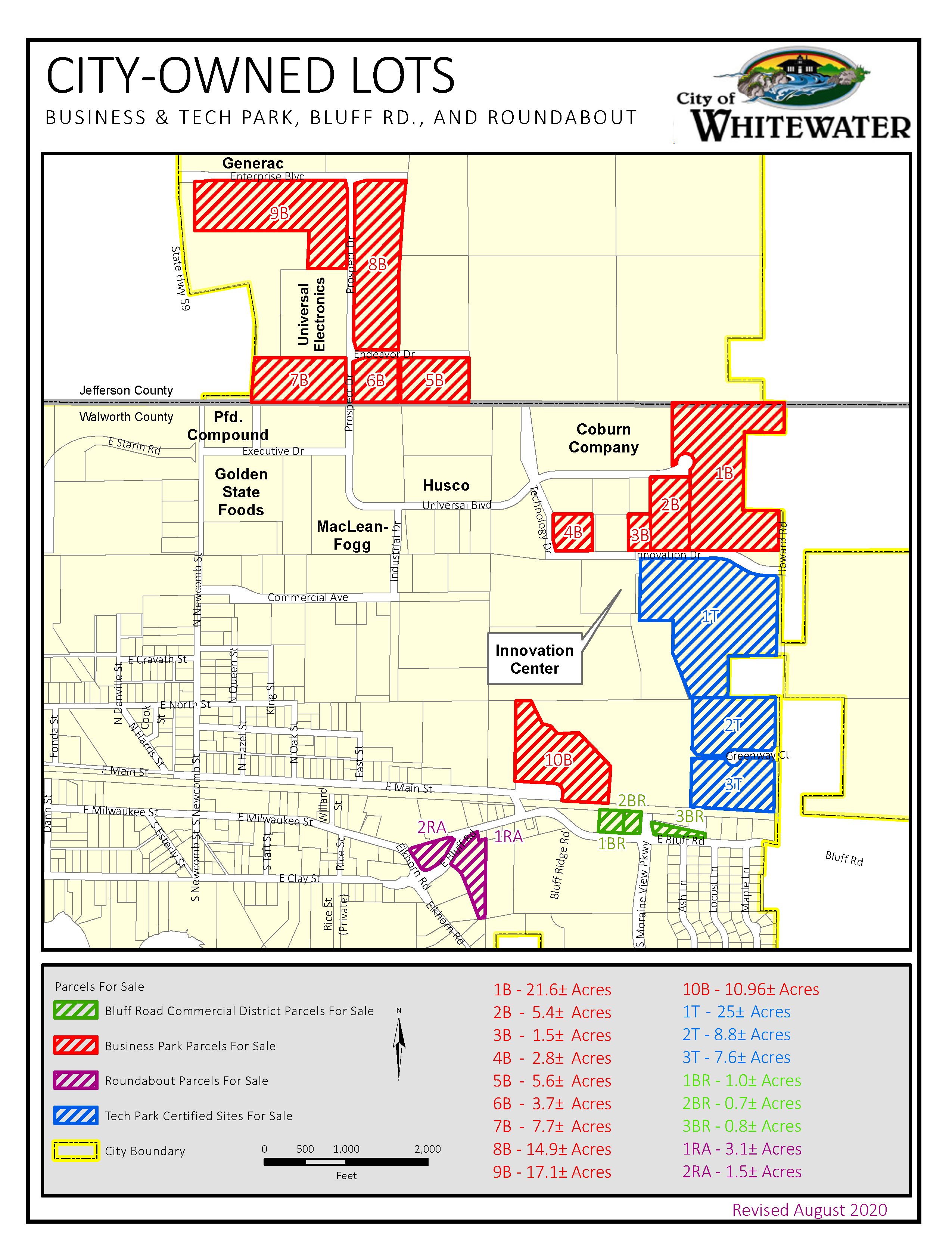 City-Owned Lots Map Rev. 8-27-2020