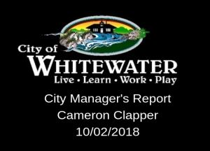 City Managers Report 10.02.2018