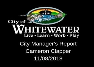 City Managers Report 11.08.2018