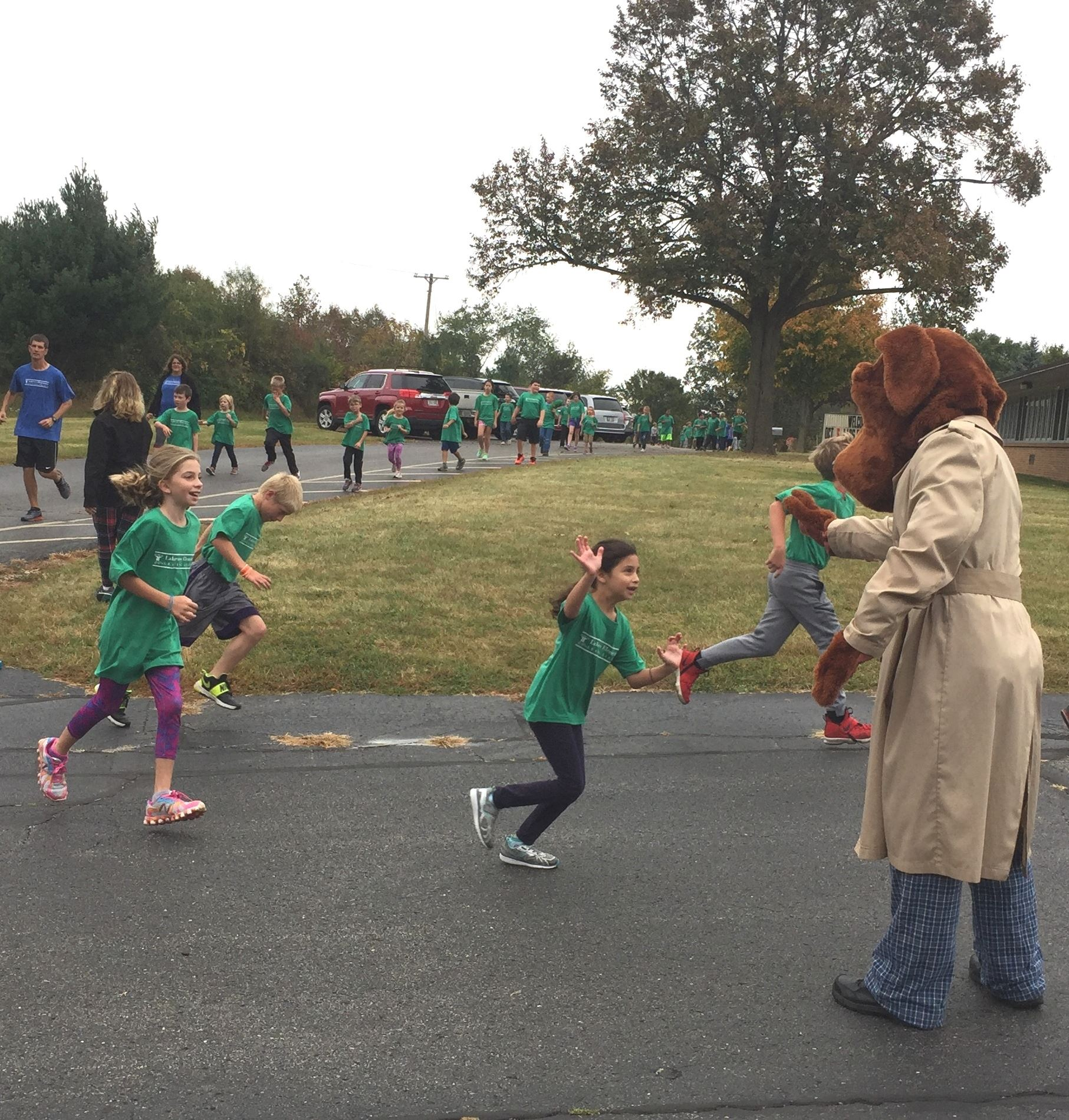 McGruff Cheering on Runners