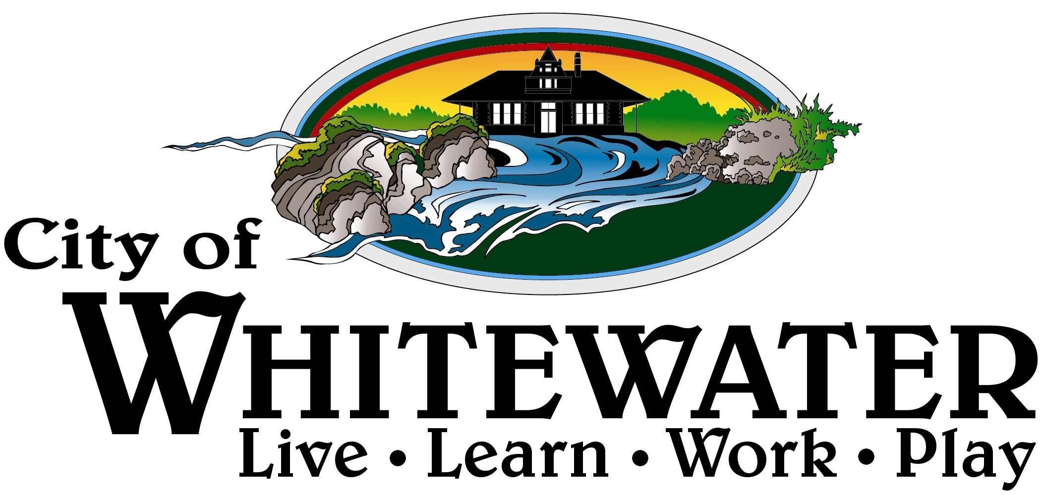 City of Whitewater White Background Live Learn Work Play Cameron Approved More Space